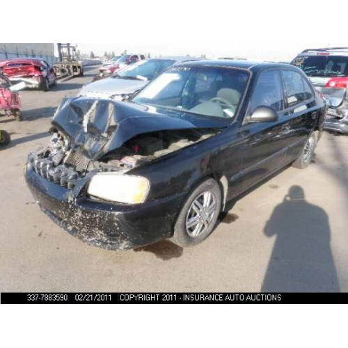 hyundai accent 2002 black. Model: 2002 Hyundai Accent