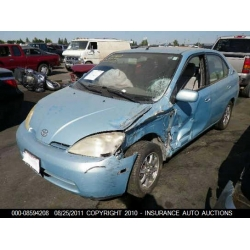 Used 2002 Toyota Prius Parts Car Blue With Gray Interior 4 Cylinder.