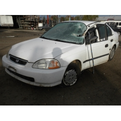 Fresno Acura on Used 1997 Honda Civic Dx Parts Car   White With Gray Interior  4