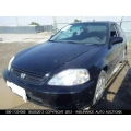 Used 2000 Honda Civic EX Parts Car - Black with gray interior, 4 cylinder engine, 5 Speed  transmission