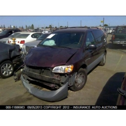 Fresno Acura on Used 2000 Toyota Sienna Parts Car   Burgundy With Gray Interior  6