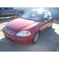 Used 1997 Honda Civic DX Parts Car - Burgundy with gray interior, 4 cylinder, automatic transmission