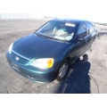 Used 2001 Honda Civic LX Parts Car - Green with brown interior, 4 cylinder, automatic transmission
