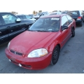 Used 1997 Honda Civic DX Parts Car - Red with gray interior, 4 cylinder, automatic transmission