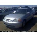 Used 2002 Honda Civic EX Parts Car - Silver with gray interior, 4 cylinder, automatic  transmission