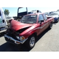 Used 1990 Toyota Pickup Parts Car - Burgundy with gray interior, 6 cylinder engine, automatic transmission
