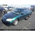 Used 2002 Honda Civic LX Parts Car - Green with brown interior, 4 cylinder engine, Automatic transmission