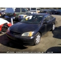 Used 2001 Honda Civic EX Parts Car - Black with gray interior, 4 cylinder engine, 5 Speed  transmission