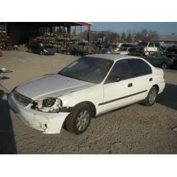 Used 2000 Honda Civic EX Parts Car - White with grat interior, 4 cylinder engine, automatic  transmission**