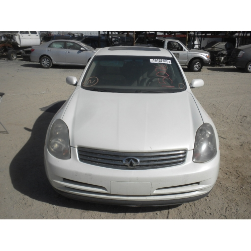 Used 2003 Infiniti G35 Parts Car White With Tan Interior 6 Cyl