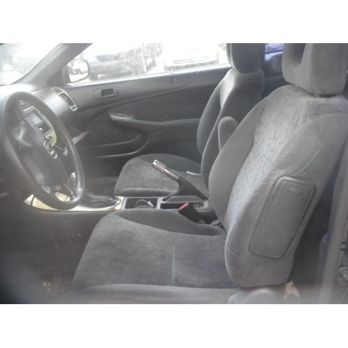 Used 2002 Honda Civic Ex Parts Car Black With Black Interior 4 Cylinder Engine Automatic