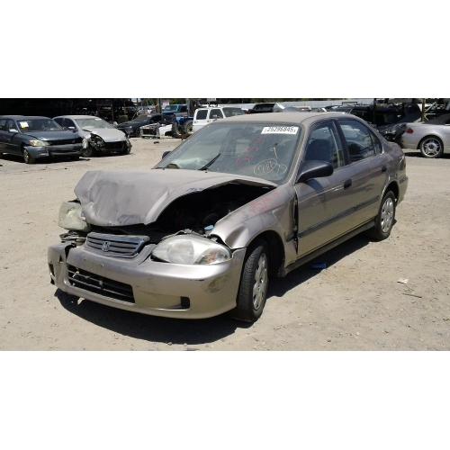 Used 2000 Honda Civic Lx Parts Car Tan With Gray Interior 4 Cylinder Engine Automatic