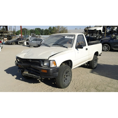 Used 1994 Toyota Pickup Parts Car White With Brown