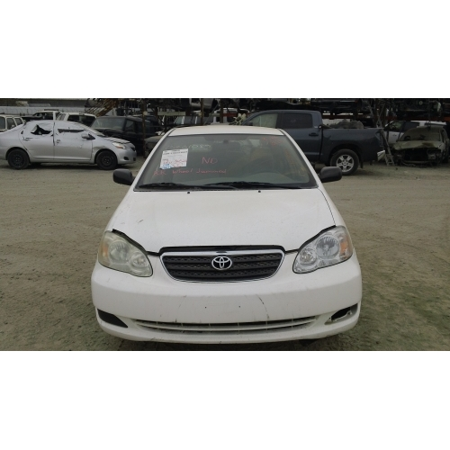 2005 Toyota Corolla Parts Car  White with brown interior 4