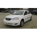Used 2005 Toyota Corolla Parts Car - White with brown interior, 4 cylinder engine, Automatic transmission