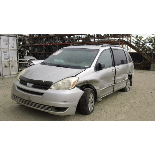 used 2004 toyota sienna parts car silver with gray interior 6 cylinder engine automatic. Black Bedroom Furniture Sets. Home Design Ideas