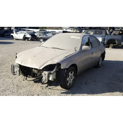 Used 2000 Honda Civic Ex Parts Car Gold With Gray Interior 4 Cylinder Automatic Transmission