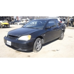 Used 2003 Honda Civic LX Parts Car - Black with black interior, 4 cylinder engine, Automatic transmission