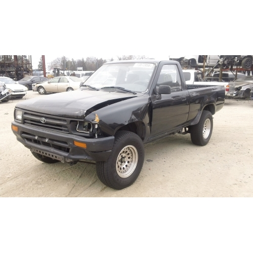Used 1995 Toyota Pickup Parts Car Black With Gray Interior 22re Engine 5 Speed Transmission