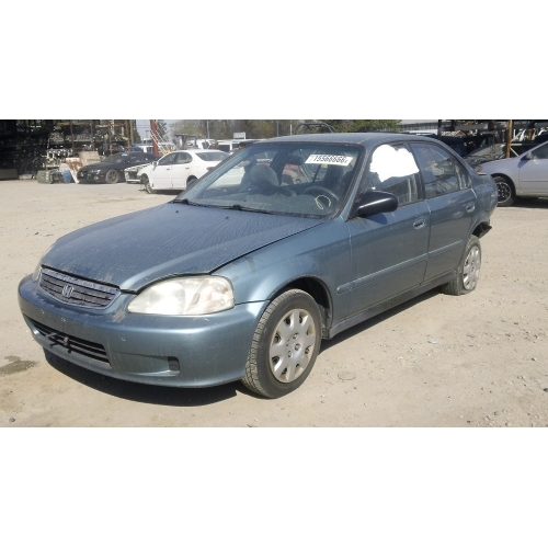Used 2000 Honda Civic Ex Parts Car Blue With Gray Interior 4 Cylinder Automatic Transmission
