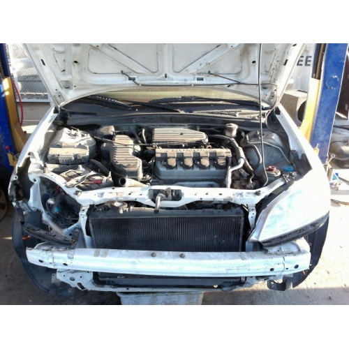Used 2004 Honda Civic Lx Parts Car White With Tan Interior 4 Cylinder Engine Automatic
