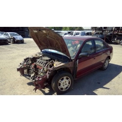 Used 2002 Honda Civic DX Parts Car - Burgundy with tan interior, 4 cylinder engine, Automatic transmission*