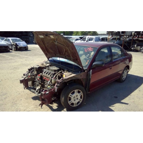 Used 2002 Honda Civic DX Parts Car   Burgundy With Tan Interior, 4 Cylinder  Engine, Automatic Transmission*