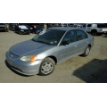 Used 2002 Honda Civic DX Parts Car - Silver with gray interior, 4 cylinder engine, Automatic transmission