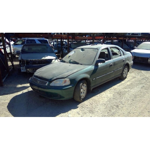 Used 2000 honda civic lx parts car green with brown for Used 2000 honda civic