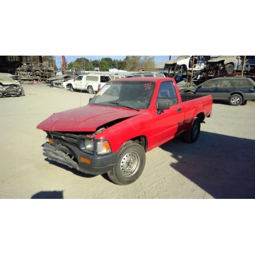 Toyota Pickup Parts >> Used 1992 Toyota Pickup Parts Car Red With Gray Interior