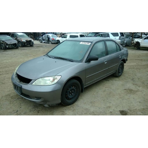 Used 2004 Honda Civic Parts Car Gray With Gray Interior 4 Cylinder Engine Automatic Transmission