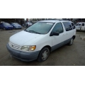 Used 2001 Toyota Sienna Parts Car - White with tan interior, 6 cylinder engine, Automatic transmission