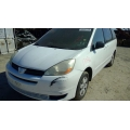 Used 2004 Toyota Sienna Parts Car - White with tan interior, 6 cylinder engine, Automatic transmission