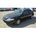 Used 2002 Honda Accord Parts Car - Black with gray interior, 4 cylinder engine, manual transmission