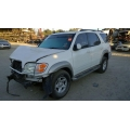 Used 2001 Toyota Sequoia Parts Car - White with grey interior, 4.7L 8 cylinder engine, Automatic transmission