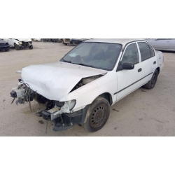 Used 1995 Toyota Corolla Parts Car - White with blue interior, 4 cylinder engine, Automatic transmission