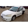 Used 2005 Honda Civic LX Parts Car - White with tan interior, 4 cylinder engine, Automatic transmission