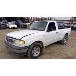 Used 1999 Mazda B2500 Parts Car - White with brown interior, 4cyl engine, 5 Speed transmission