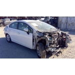Used 2015 Honda Civic Parts Car - White with brown interior, 4 cylinder engine, automatic transmission