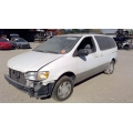 Used 2000 Toyota Sienna Parts Car - White with grey interior, 6 cylinder engine, automatic transmission
