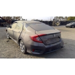 Used 2017 Honda Civic Parts Car - Gray with black interior, 4 cylinder engine, automatic transmission