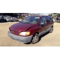 Used 2001 Toyota Sienna Parts Car - Red with tan interior, 6 cylinder engine, automatic transmission