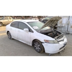 Used 2008 Honda Civic Parts Car - white with brown interior, 4 cylinder engine, Automatic transmission