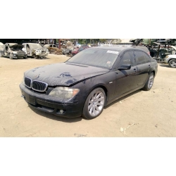 Used 2006 BMW 750Li Parts Car - Black with brown interior, 8 cyl engine, automatic transmission